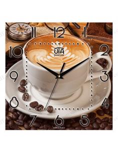 "Wall clock ""Coffee with crema"""