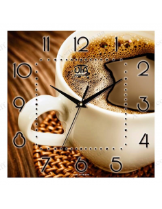 "Wall clock ""A cup of coffee"""