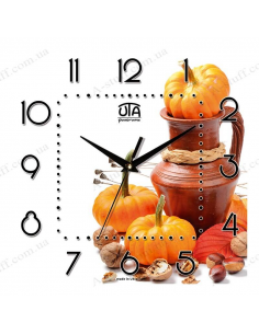 "Wall clock ""Pumpkin"""