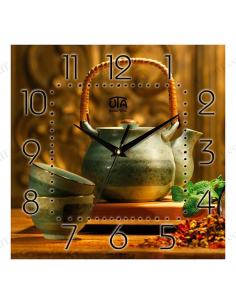 "Wall clock ""Tea ceremony"""