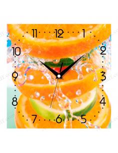 """Настінний годинник """"Цитрусовий вибух"""""""