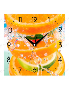 "Wall clock ""Citrus Blast"""