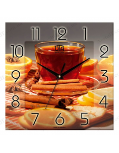 "Wall clock ""Spicy Tea"""