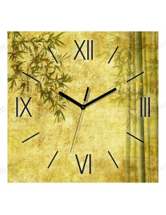 "Wall clock ""Green Bamboo"""