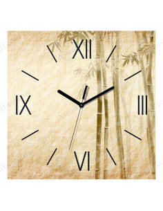 "Wall clock ""Bamboo on the gray"""