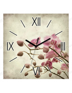 "Wall clock ""Orchid"""