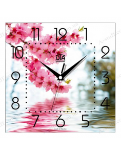 "Wall clock ""Pink branch"""