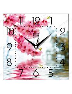 "Wall clock ""Pink branch"""