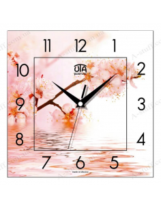 "Wall clock ""Cherry above water"""