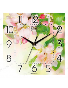 "Wall clock ""Blooming cherry"""
