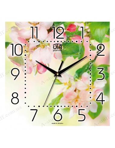 "Wall clock ""Blooming cherry"""