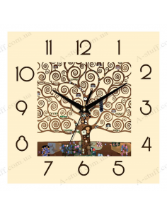 "Wall clock ""Fairy tree"""