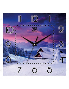 "Wall clock ""Frosty Evening"""