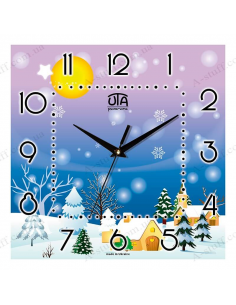 "Wall clock ""Winter Idyll"""