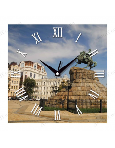 "Wall clock ""Monument to Bohdan Khmelnytsky, Kyiv"""