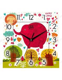 """Wall clock """"Happy World"""""""