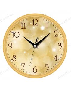 "Wall clock ""Colourful glare"""