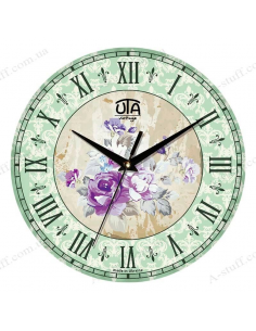"""Часы настенные """"Пионы фиолетовые"""""""
