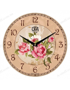 "Clock for wall ""Luxury peonies"""