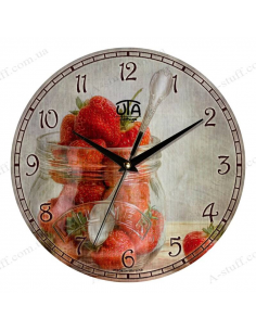 "Clock for wall ""Strawberry"""