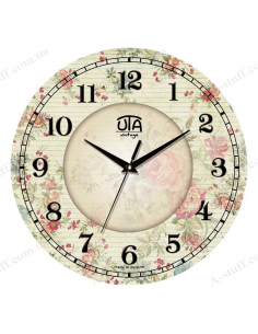 """Clock for wall """"Floral Print"""""""