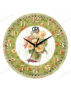 """Clock for wall """"Bouquet"""""""