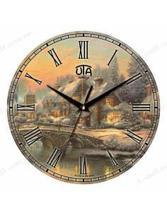 """Clock for wall """"Winter House"""""""
