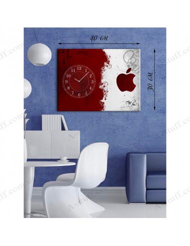 """Картина з годинником """"Червоне і біле"""""""
