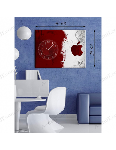 """Painting with clock """"Red and white"""""""