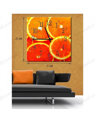 """Картина с часами """"Апельсиновая радость"""""""