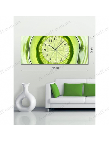 """Painting with clock """"Exotic"""""""