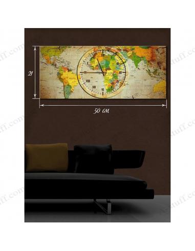 """Картина с часами """"Время путешествий"""""""