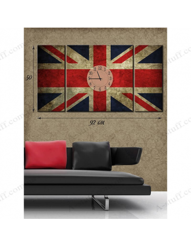 "Картина с часами на холсте ""Английское время"""