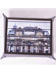 """Table - tray on a pillow laptop / breakfast """"Building in the reflection"""""""