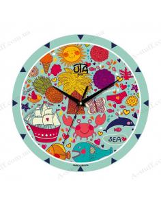 "Wall clock ""Marine Voyages"""