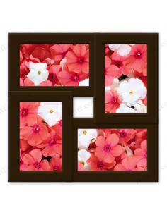 "Multiframe wooden for 4 photo ""Classic 4"", wenge"