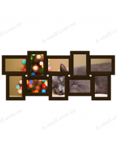 "Multiframe wooden for 10 Photos ""History 10"", wenge"