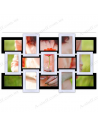 """Multiframe wooden for 15 Photos """"Story 15"""", black - white"""
