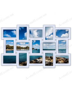 "Multiframe wooden for 15 Photos ""Story 15"", white"