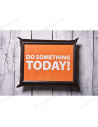 """Table - tray on a pillow laptop / breakfast """"Do something today"""""""