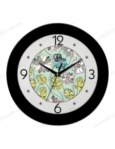 """Wall clock """"Flowers on the water"""""""