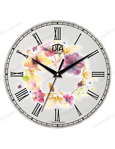 """Годинник настінний """"Квіти аквареллю"""""""