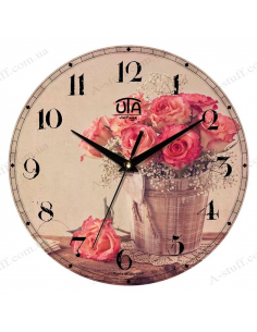 "Clock for wall ""Bouquet of Roses"""