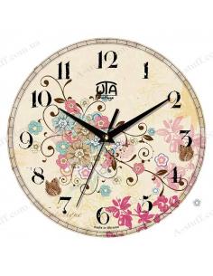 """Часы настенные """"Цветы и бабочки"""""""