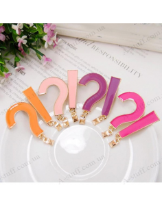 """Earrings medium length """"question mark and exclamation point"""""""