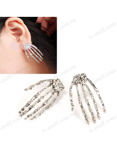 "Earrings ""Metal hand skeleton"""