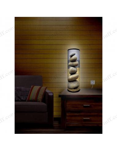 """Дизайнерський світильник """"Піраміда з каменів"""""""