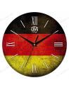 "Clock for wall ""Vintage Germany flag"""