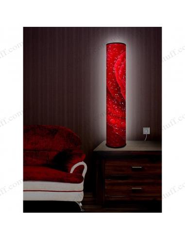 "Design lighting ""Red Rose in drops of dew"""