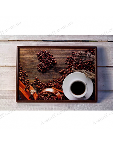 """Tray on a pillow laptop / breakfast """"Coffee with anise"""""""